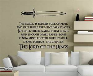 the lord of the rings quote wall decals vinyl stickers With inspiration lord of the rings wall decals