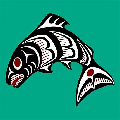 Salmon Northwest Clipart Pacific Coast Haida Webstockreview