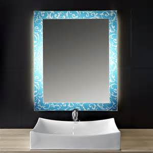 design spiegel bad design effekt spiegel blue vintage 160775006