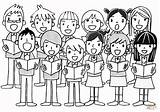 Coloring Chorus Pages Children Printable Childrens Choir хор Drawing рисунок Sing Domain Dot источник sketch template