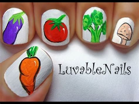 Vegetable Garden Nail Art By Luvablenails Youtube
