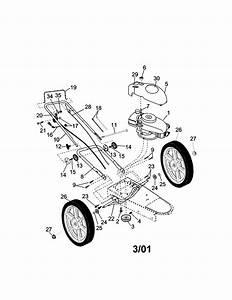 Craftsman High Wheel Weed Trimmer Parts