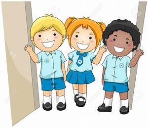 Pupils In Uniform Clipart - ClipartXtras