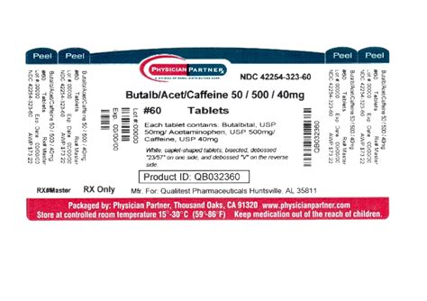 Butalbital Information, Side Effects, Warnings And Recalls