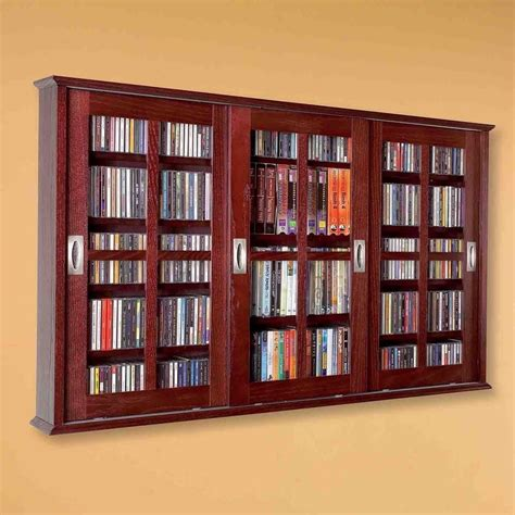 dvd storage cabinet with sliding glass doors new dvd cd media storage wall cabinet glass doors wood