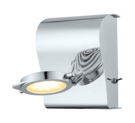 orotelli led wall light 1l chrome finish with satin glass