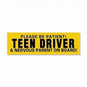 teen driver and parent car magnet 10 x 3 by polganidesign With kitchen colors with white cabinets with student driver sticker