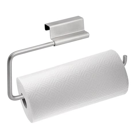 cabinet door paper towel rack holder bath kitchen