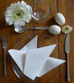 Pliage Serviette Moulin A Vent : pliage de serviette de table en forme de colombe r aliser une colombe avec une serviette en ~ Melissatoandfro.com Idées de Décoration