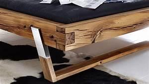 Bett Weiß Massiv 180x200 : balkenbett be 0276 bett aus wildeiche massiv 180x200 f e edelstahl ~ Bigdaddyawards.com Haus und Dekorationen