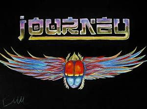 Journey Band Logo Drawing by Emily Maynard