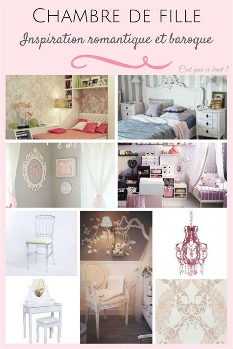 inspiration chambre fille détails baroques pour une décoration romantique réussie