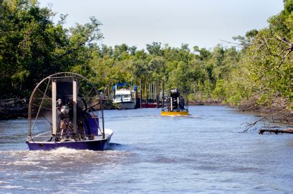 Fan Boat Ride Miami by Airboats In The Everglades