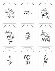 free christmas gift tag printables With how to print on gift tags