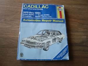 Haynes Cadillac Rear Wheel Drive Models 1970