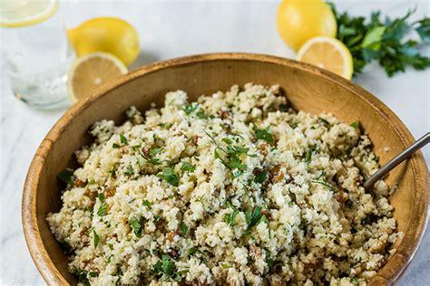 Mediterraneanstyle Cauliflower Rice  Everyday Good Thinking