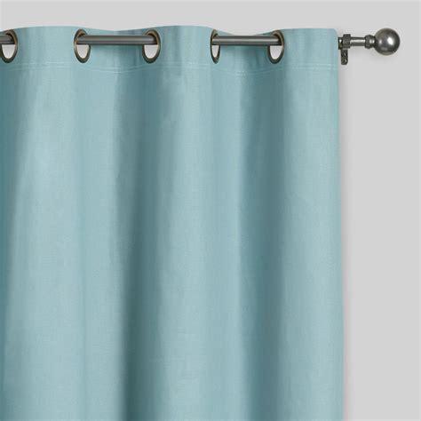 blue grommet top curtains set of 2 market