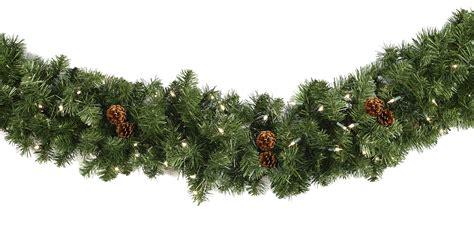 garland with lights lighted garland winchester fir prelit