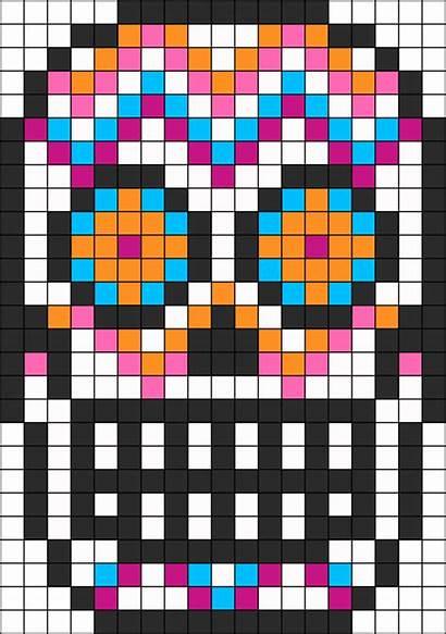 Skull Sugar Patterns Perler Bead Pattern Beads