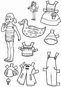vacation paper dolls to color and cut out boy and girl With paper doll templates cut out