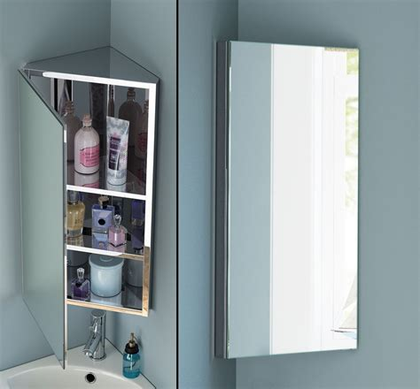 Stainless Steel Corner Bathroom Cabinet by Stainless Steel Bathroom Corner Wall Mirror Cabinet Mc101