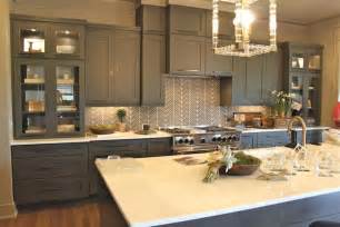 backsplash with white cabinets and gray walls gray kitchen island design decor photos pictures