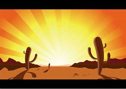 Clipart Western Landscape Desert Clip Sunset Scenes