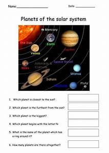 Simple Planets Worksheet By Tracey1981