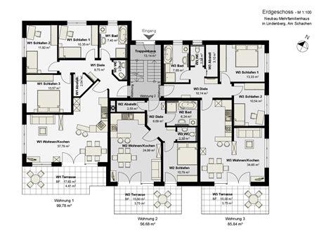 Grundriss 3 Familienhaus Neubau by Mehrfamilienhaus Planungsb 252 Ro Edgar Popp Lindenberg Im