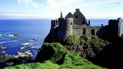 Ireland Castle Dunluce Tourist Irish Scenery Desktop
