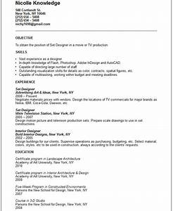 Set designer resume example free templates collection for Resume set