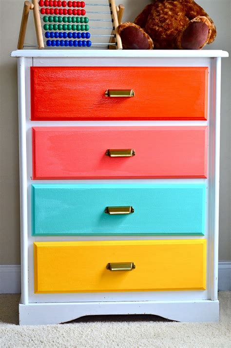 colored dressers colorful diy dressers that pack a punch