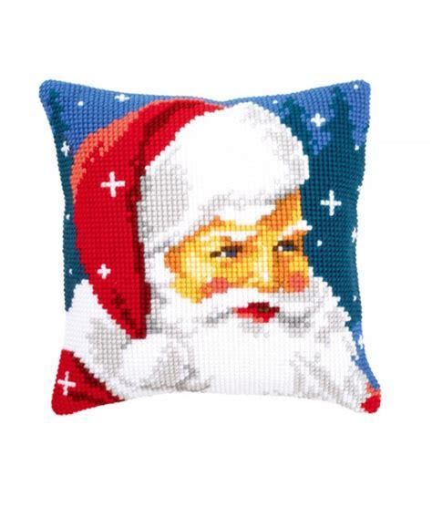 Cuscini A Punto Croce Cuscino Punto Croce Babbo Natale