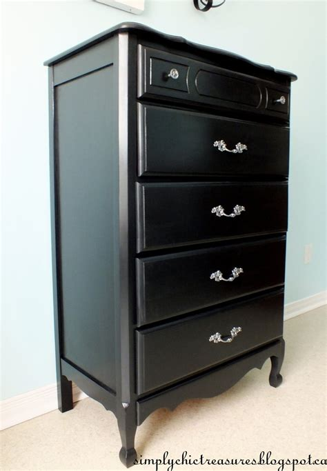Black Dresser And Chest by Simply Chic Treasures A Black Provincial Dresser