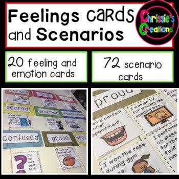 feelings  emotions scenario cards  chrissies
