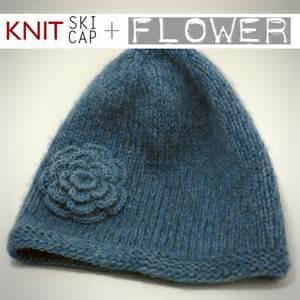 Free Knit Hat with Brim Pattern