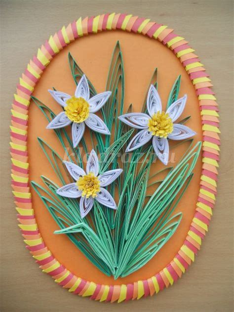 daffodils  quilling technique simple craft ideas