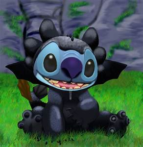 stitch as toothless finished by stitch-blue on DeviantArt
