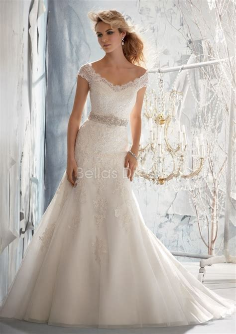 the shoulder wedding dress with lace sleeves vintage lace the shoulder wedding dress with v back and cap sleevescherry cherry