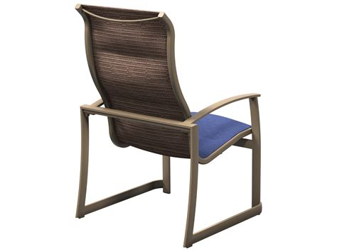 Stacking Sling Chair by Tropitone Mainsail Padded Sling Aluminum Stackable Dining