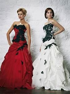 Robe De Mariée Noire : robe de mariee rouge et noir ~ Dallasstarsshop.com Idées de Décoration