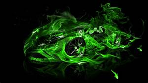 Photo Collection Blue And Green Fire Wallpaper