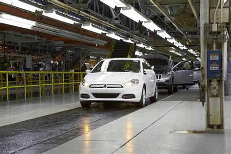Chrysler Plant Belvidere by 2013 Dodge Dart A Car Leaves The Factory Belvidere
