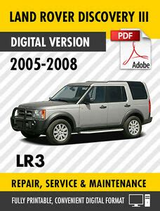 car engine repair manual 2005 land rover lr3 instrument cluster 2005 2008 land rover discovery iii lr3 factory repair service manual workshop ebay