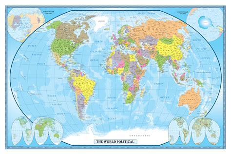 swiftmaps world classic executive wall map poster