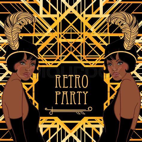 retro fashion glamour girl  stock vector colourbox