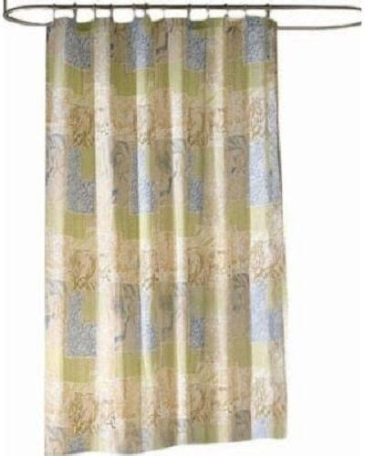 kohls bayside fabric shower curtain ocean nature tropical green multi print  ebay