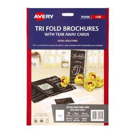 Avery Tri Fold Brochure With Tear Away Cards 50 Avery Trifold Brochure With Tear Away Cards 20 Pack