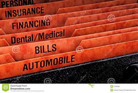 Filing Folders For Bills Stock Photo   Image: 6105060