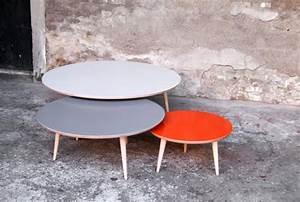 Table Basse Ronde Gigogne : table basse gigogne ronde bois le bois chez vous ~ Teatrodelosmanantiales.com Idées de Décoration